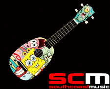 SPONGEBOB SQUAREPANTS PINEAPPLE UKULELE w UKE GIG BAG PLECTRUM PITCH PIPES