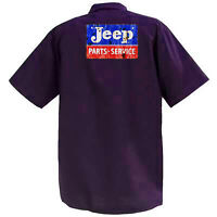 Jeep Parts And Service - Mechanics Graphic Work Shirt  Short Sleeve