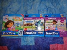 Lot OF 3 VTECH INNOTAB GAME CARTRIDGES Dora the Explorer-Doc McStuffins Monster