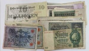 1905-1933 Germany 95 Banknote Lot