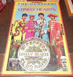 The Beatles-Sgt Pepper Original 10th Anniversary Capitol Records Promo Poster