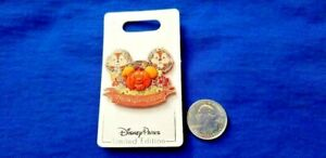 Disney Parks 2020 Thanksgiving Chip And Dale 3D Mickey Mouse Pumpkin LE Pin