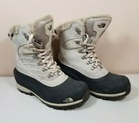 The North Face Women's Chilkat 400 Nylon Suede Snow Boots Winter Shoes Size 7.5