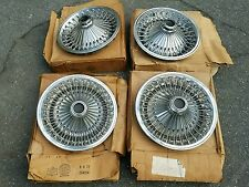 "NOS Mopar Dodge Plymouth Charger Road Runner 14"" Wire wheel  Hubcaps 1970s"