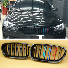 For BMW F10 F11 M-Type Glossy Black+M-Color Rear Part Kidney Front Grille Grill