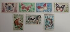 Madagascar Stamps 1960 Butterflies Lot + 1961 Wildlife - Lemurs Lot of 7