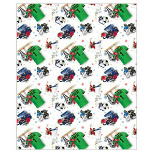 FOOTBALL WRAPPING PAPER - 2,  4, or 6 SHEETS PER PACK