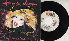 AMANDA LEAR in italiano disco 45 STAMPA ITALIANA Assassino 1984 ITALY