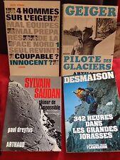 DESMAISON - SAUDAN -GEIGER - OLSEN :  jorasses ,eiger , glaciers , skieur ,etc