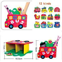 Handmade DIY Craft Kit EVA Pen Container Holder Baby Kids Educational Play Toys