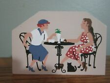 Tea For Two Accessory Cat'S Meow Village Wood 1996 Piece #271 Near Mint Cond