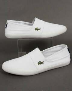 Lacoste Marice Slip On Espadrille in White canvas - plimsoll trainers shoes