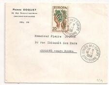 STRASBOURG Bas Rhin CONSEIL DE L'EUROPE EUROPA 20F sur ENVELOPPE. 1958. L939