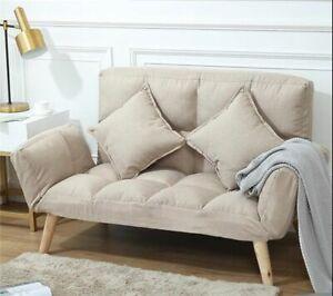 Futon Sofa Fabric Furniture For College Dorm Bedroom Studio Apartment Couch Seat