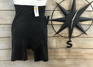 Cupid Women's Extra Firm Control Tummy Tux High Waist Thigh Slimmer Size M