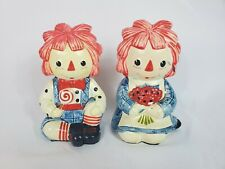 Vintage Fitz and Floyd 1972 Raggedy Ann and Andy Figurines Dolls