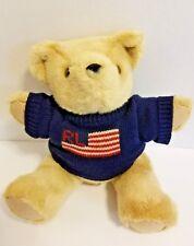 Polo Ralph Lauren Usa Flag Sweater Jointed Teddy Bear Flag Plush Stuffed 1996