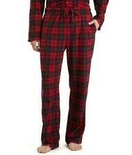 Nautica Cozy Fleece Red Black Plaid Pajamas Lounge Pants  Med NWT