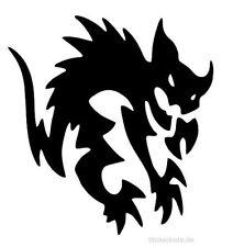 JDM OEM Aufkleber Dämonen Katze 12 cm Sticker Ken Block Folie Decal schwarz