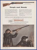 Vintage 1966 BROWNING A-5 Automatic 12, 16, 20 Gauge Shotgun Gun 60's Print Ad