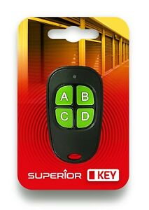 Superior Fixed Code Remote Control KeyFob for Garage / Gate / Barrier etc