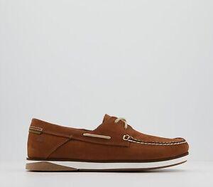 Mens Timberland Atlantis Break Boat Shoes Medium Red Nubuck Casual Shoes