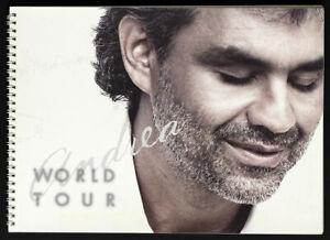 Andrea Bocelli Original World Tour ca 2000's Concert Program Book w/Photos Rare!