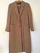 Women's LOUIS FERAUD Long Khaki Tan TRENCH COAT Size 38 US 6 8