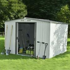 Outdoor Storage Shed 8'x6' Steel Garden Utility Tool Backyard w/ Floor Frame Xxl