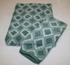 Hotel Collection Ultimate MicroCotton Diamond Bath & Hand Towel Set Glacier TEAL