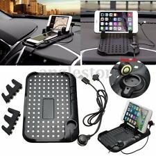 Non-Slip Car Holder Dashboard Stand USB Mount Charger FIT GPS Pad Mobile Phone