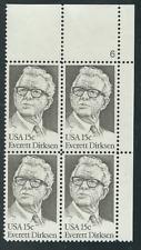 Scott # 1874...15 Cent.. .Everett Dirksen.... Plate Block