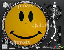 "PAIR (2) ORIGINAL 1988 SMILEY 12"" or 7"" DJ SLIPMATS slipmat acid house rave"