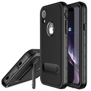 For Apple iPhone XR Life Waterproof Case Cover with Kickstand & Screen Protector