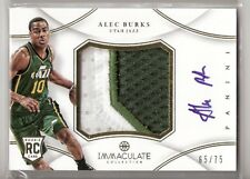 Alec Burks 12/13 Immaculate Patch Auto RC #PP-PUB SN #65/75