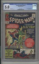 Amazing Spider-Man #9 CGC 5.0 (OW/W) 1st App. of Electro Marvel Comics 1964
