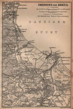 GDANSK & environs. Zoppot Sopot Danzig Gda?sk. Poland mapa. BAEDEKER 1904