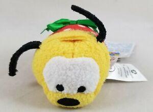 """New Disney Tsum Tsum Mini Plush 3.5"""" Pluto Christmas Holiday Toy NWT"""