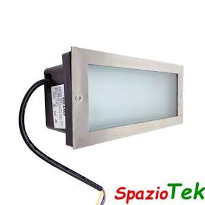 Faretto Segnapasso LED 10w Rettangolare muro incasso luce esterno lampada