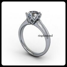 2 Ct Near White Moissanite Forever Solitaire Engagement Ring 925 Sterling Silver