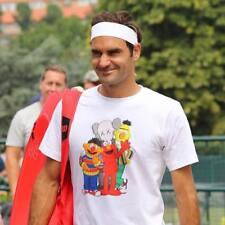 UNIQLO Kaws X Sesame Street T shirt comme porté par Roger Federer à Wimbledon XL