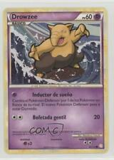 2010 Pokémon HeartGold & SoulSilver Base Set Spanish 62 Drowzee Pokemon Card 2f4