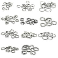Stainless Steel Open Rings Jewelry Making Finding 4mm-12mm ILJ
