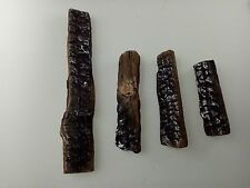 4 Pcs Fireplace Ceramic Logs for Gas Ethanol Fireplaces & Stoves & Gas firepit