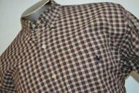 5998-a Mens Polo Ralph Lauren Dress Shirt Size Large Big Shirt Red Plaids