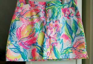 NEW Lilly Pulitzer Nicki Skort Multi Fiesta Bamba Size 2  01119