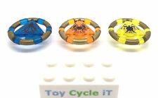 LEGO 3 x ATLANTIS minifigura Treasure CHIAVI Blu Arancione Giallo RARA L2