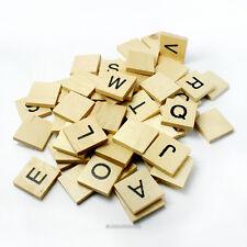 """*60* Wood Alphabet Tiles, 3/4"""" Scrabble Style Square Pendant Tiles  USA (#9201)"""