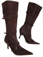 ALDO SUEDE BOOTS BUCKLE BROWN SIZE 37/ US 6.5-7  30 days return accepted euc