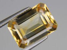 Natural Citrine Octagon Loose Gemstone VVS 14x10mm Big 7.14ct